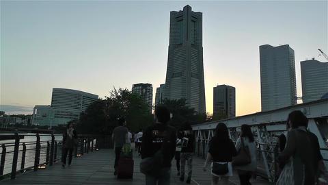Yokohama Minato Mirai Japan 4 Stock Video Footage