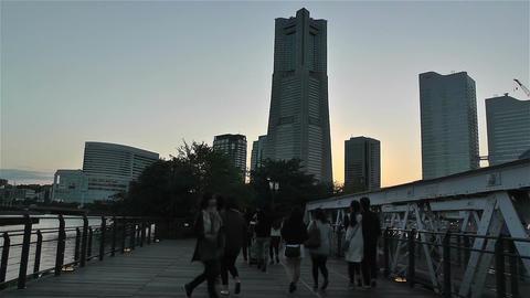 Yokohama Minato Mirai Japan 4 Footage