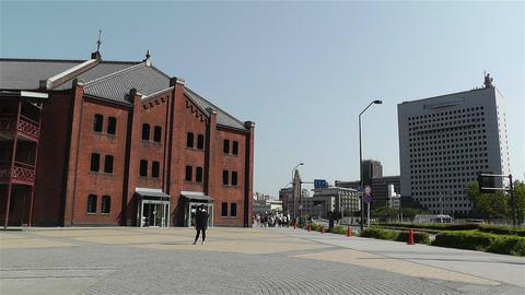 Yokohama Red Brick Warehouse Japan 1 Stock Video Footage