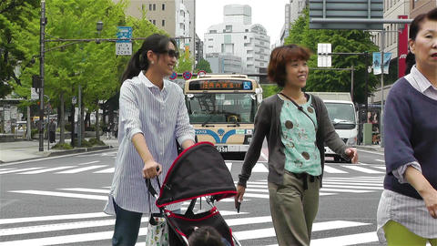 Yokohama Street Japan 4 Stock Video Footage
