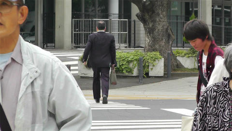 Yokohama Street Japan 6 Stock Video Footage