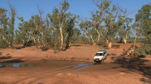 4 WD dirtroad 04 Stock Video Footage