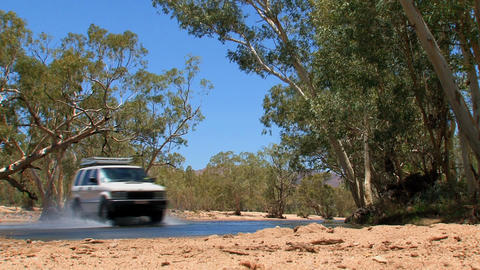 Four wheel drive in the outback Stock Video Footage