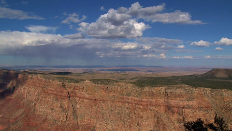 Clouds and shadow time lapse moving out the canyon Stock Video Footage