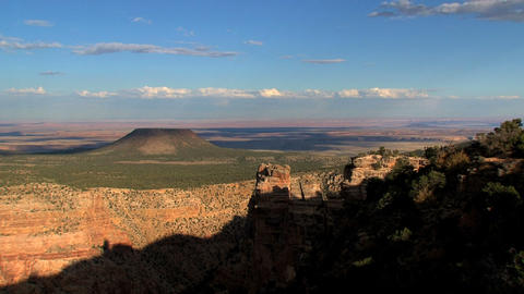 Grand Canyon shadow moving up timelapse Footage