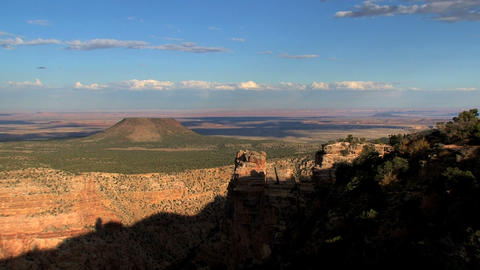 Grand Canyon shadow moving up timelapse Stock Video Footage