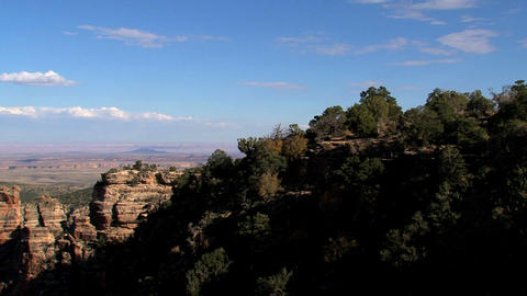 Pan zoom out Grand Canyon Stock Video Footage