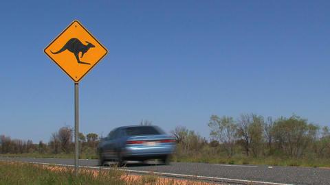 kangaroo sign 04 Stock Video Footage
