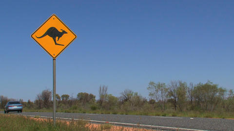 kangaroo sign 04 Stock Video Footage