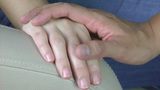 Hand giving support. Condolence Stock Video Footage