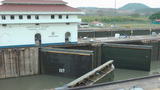 PANAMA CITY, PANAMA - MAY 5: Gates opening for the access of the a permitted ship through the Panama Footage