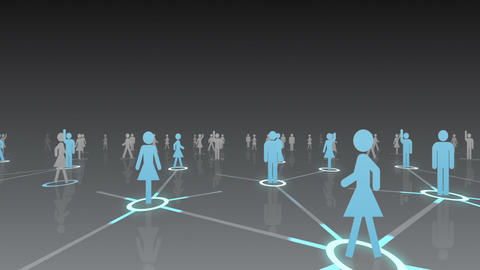Social Network Connection A 2b 4 HD Animation