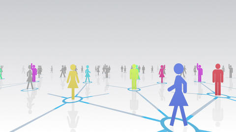 Social Network Connection A 2w 4 HD Stock Video Footage