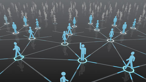 Social Network Connection A 4b 4 HD Stock Video Footage