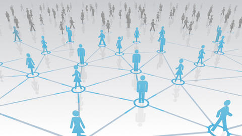 Social Network Connection A 4w 4 HD Stock Video Footage