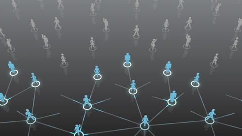 Social Network Connection A 5b 4 HD Stock Video Footage