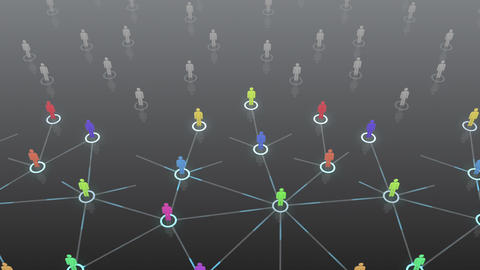 Social Network Connection B 3b 4 HD Stock Video Footage
