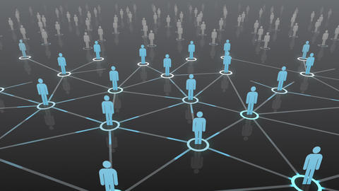 Social Network Connection B 4b 4 HD Stock Video Footage