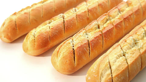 Garlic Baguette - Dolly Shot stock footage