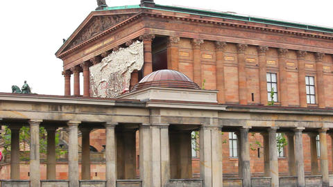 National Gallery Museum In Berlin, Germany stock footage