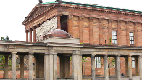 National gallery museum in Berlin, Germany Stock Video Footage