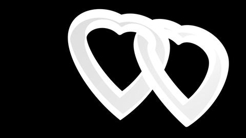 Transparent flying love hearts, wedding animation,... Stock Video Footage