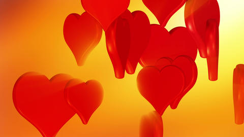 Flying red love hearts, wedding background animation,... Stock Video Footage