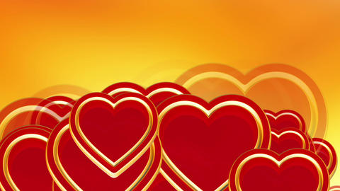 Flying Red Love Hearts Background, Wedding Background Animation, Valentine
