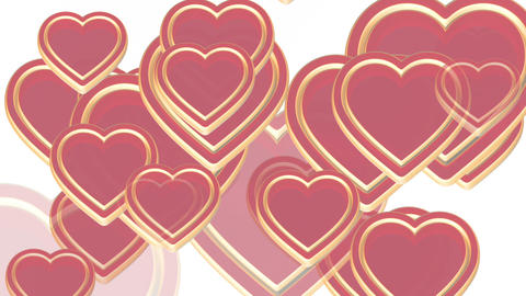 100 flying love hearts, wedding animation, valentines… Stock Video Footage