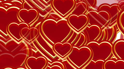 100 flying love hearts, wedding animation, valentines... Stock Video Footage