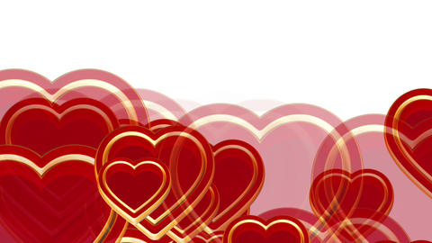 100 flying love hearts, wedding animation, valentines day, alpha matte Animation