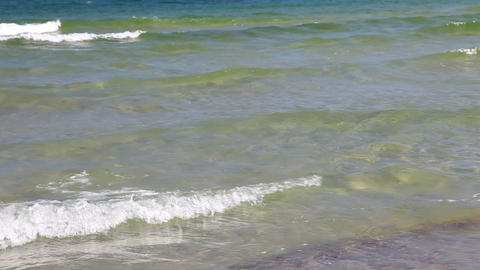 Baltic Sea - small waves, summer day Stock Video Footage