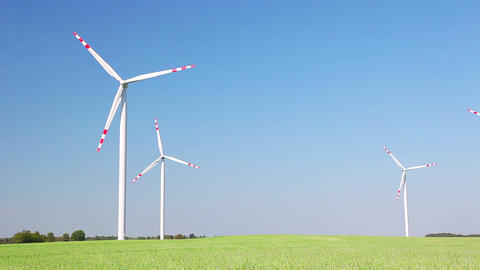 Eco energy - wind energy Stock Video Footage