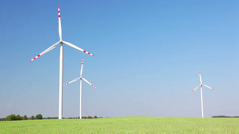 Eco energy - wind energy Stock Video Footage