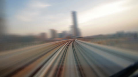 Traffic Dubai Metro. Timelapse Stock Video Footage
