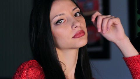 Beautiful Young Woman Stock Video Footage