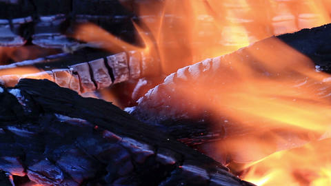 Fire In The Brazier Stock Video Footage