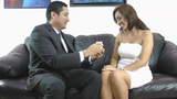 Wedding Proposal; Happy Young Man Giving A Ring To A Beautiful Surprised Young Woman stock footage