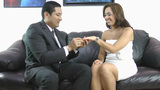 Wedding proposal; Happy young man giving a ring to a... Stock Video Footage