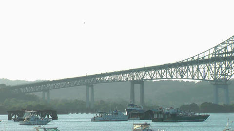 Bridge of the Americas, Panama City Stock Video Footage