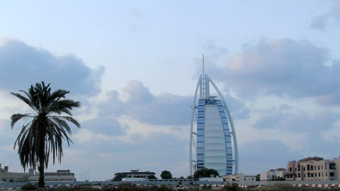 Burj al Arab hotel time lapse Stock Video Footage