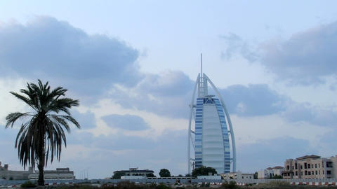 Burj al Arab hotel time lapse Footage
