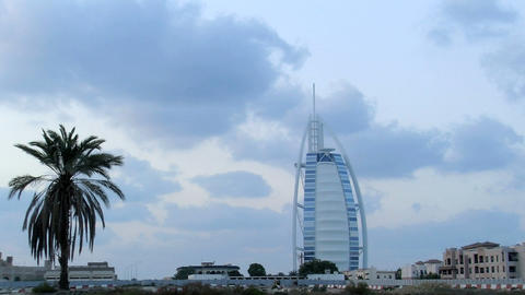 Burj al Arab hotel time lapse Stock Video Footage