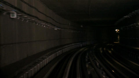 Metro at tunnel lapse Stock Video Footage