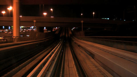 Metro at night time lapse Stock Video Footage