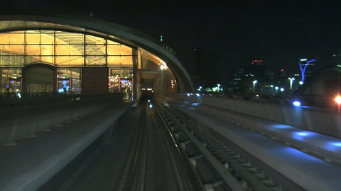Metro at night Footage