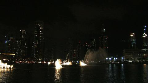 The Dubai fountain Stock Video Footage