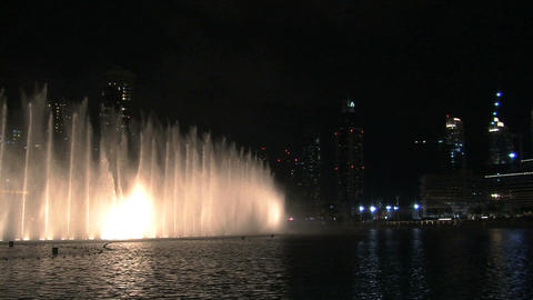The Dubai fountain Stock Video Footage