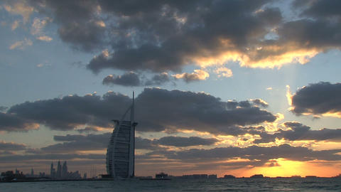 Burj al Arab hotel Stock Video Footage