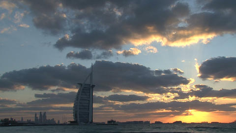 Burj al Arab hotel Stock Video Footage